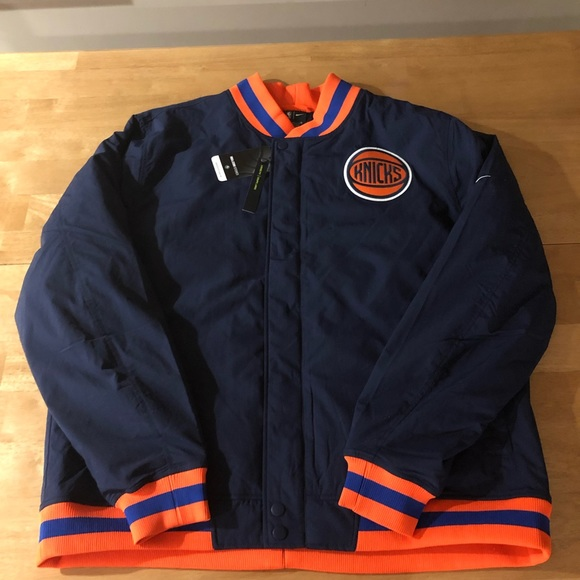 size 40 af6f1 6c4ca New York Knicks Nike City Edition Jacket Boutique